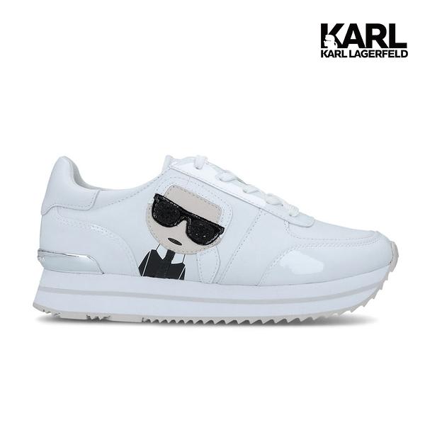 【KARL LAGERFELD】VELOCITA II IKONIK運動鞋-白