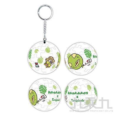 Sanrio Characters& 扭蛋星球(哈密瓜鳥)立體球型拼圖