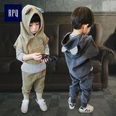 男童新款1童裝女小童2春3兒童4三件套5潮6歲寶寶套裝