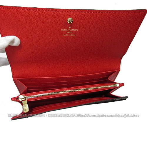 Louis Vuitton LV M62086 Sarah 限量圖案熱銷款經典花紋扣式長夾  全新 預購【茱麗葉精品】