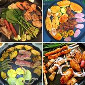 烤盤 韓國燒烤盤 進口麥飯石圓形烤盤家用電磁爐燃氣通用 巴黎春天
