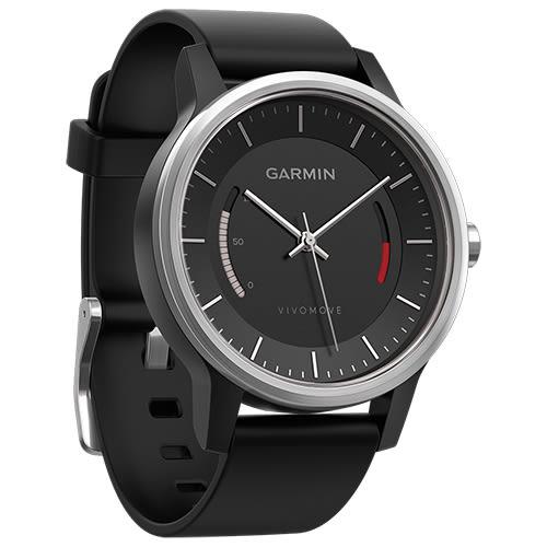 GARMIN vivomove 智慧指針式 腕錶 SPORT 運動風-黑色(全新公司貨,現貨供應)