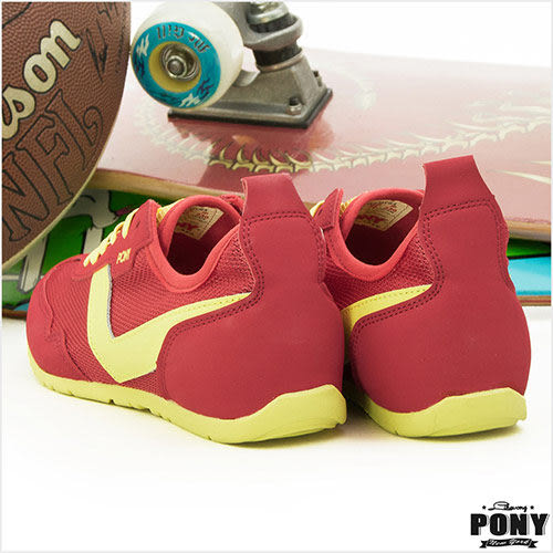 PONY 繽紛韓風慢跑鞋--Missy 姐姐鞋 紅黃 43W1MY61RD--女 6折好康
