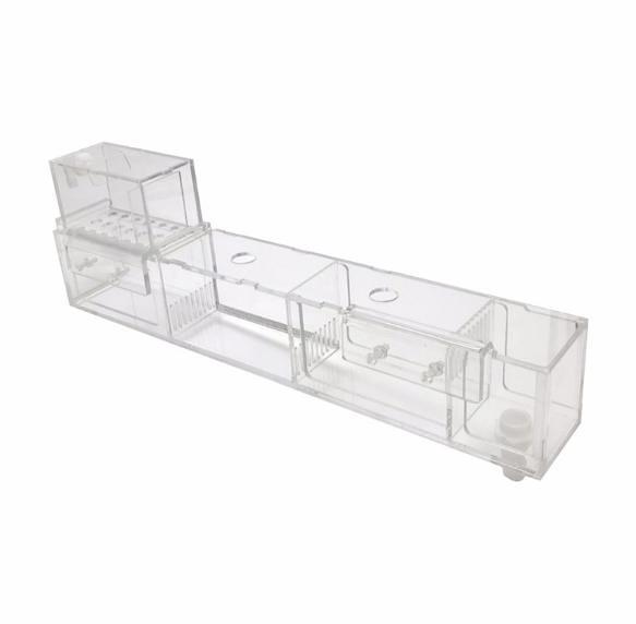 大號無架【NF476】2尺~3尺缸乾濕分離魚缸上濾盒 魚缸水族箱上置上部外置篩檢程式滴流盒過濾槽