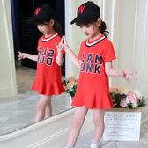 女童短袖T恤裙純棉中長款韓版半袖潮洋氣小女孩夏季裙子 奇思妙想屋