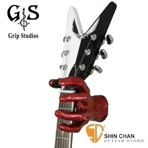 【缺貨】【吉他架】美國製造 吉他架 Grip Studios Monster  怪獸造型吉他架 壁掛  (紅色/Red Rum)