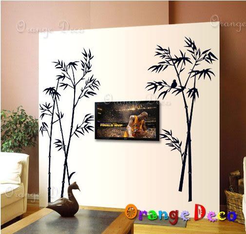 壁貼【橘果設計】竹林 DIY組合壁貼/牆貼/壁紙/客廳臥室浴室幼稚園室內設計裝潢