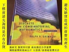 二手書博民逛書店Discrete罕見and combinatorial Math