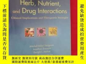 二手書博民逛書店Herb,罕見Nutrient, and Drug Intera