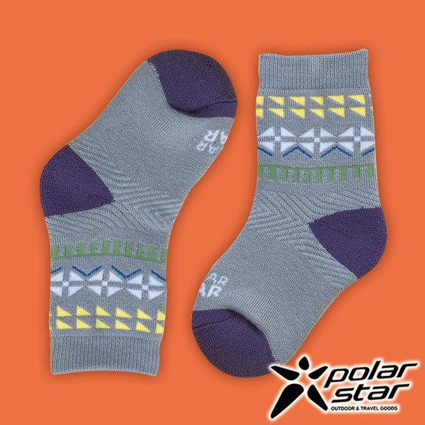 PolarStar 台灣製造 兒童保暖雪襪『灰』P16613 MIT 刷毛 舒適 保暖襪