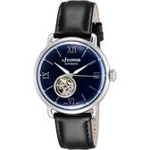 LICORNE力抗 光陰系列 小鏤空機械手錶-藍x黑/42mm LT140MWNB