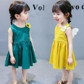 女童夏裝連身裙一歲女寶寶夏季2兒童裝3超洋氣4小童5韓版公主裙子 流行花園