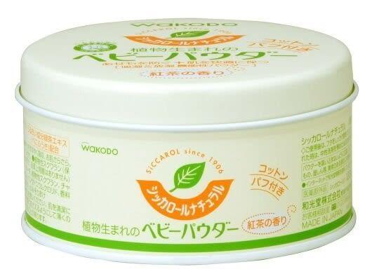 日本和光堂 WAKODO 嬰幼兒玉米爽身粉/植物性寶寶痱子粉 120g~不含滑石粉