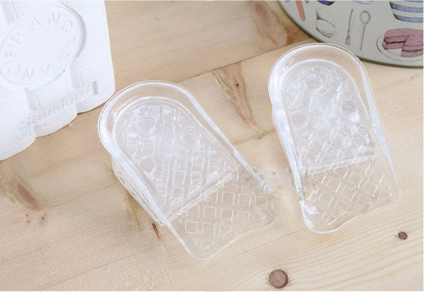 Qmishop 暢銷日韓5層矽膠隱形增高鞋墊/知名節目推薦/韓國台灣藝人愛用品【S1】非nike