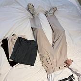 西裝褲 港風秋季垂墜感西褲男韓版寬鬆直筒九分闊腿褲休閒百搭西裝褲子潮 夢藝