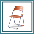 【必購網OA辦公傢俱】 FD-211折合椅 活動椅 橘