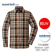【速捷戶外】日本 mont-bell 1114280 WICKRON 男長袖襯衫(麥橘色),柔順,透氣,排汗, 抗UV,montbell