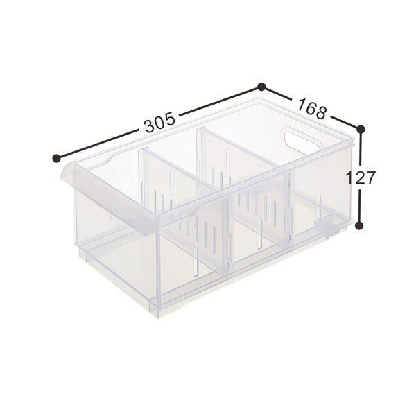 【好市吉居家生活】嚴選聯府KEYWAY LF-2004 Fine隔板整理盒(附輪) 收納盒