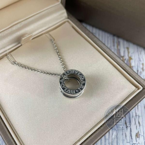 BRAND楓月 BVLGARI 寶格麗 352816 白K 鑽款 B.ZERO1 項鍊 首飾 配件 配飾 飾品
