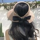 草帽子女夏天韓版防曬空頂遮陽帽沙灘出游漁夫防紫外線遮臉太陽帽 現貨快出