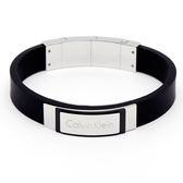 CK Calvin Klein 簡單時尚款黑色手環(KJ7QBB290100)