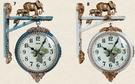 歐式大氣雙面掛鐘客廳靜音石英鐘表創意家用掛表時尚個性時鐘