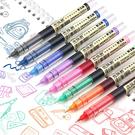 【BlueCat】走珠君直液式盒裝中性筆 針頭筆 (6入)