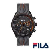 【FILA 斐樂】/三眼橡膠錶(男錶 女錶 Watch)/38-176-002/台灣總代理原廠公司貨兩年保固