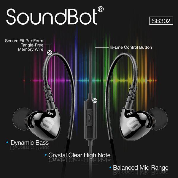 美國聲霸SoundBot SB302 運動防汗後掛式耳機 超重低音 防水耳掛