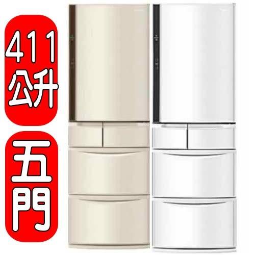 國際牌 Panasonic 【NR-E414VT-W1/NR-E414VT-N1】411公升五門變頻冰箱
