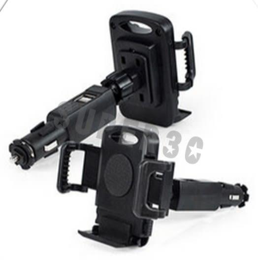 新竹【超人3C】aibo GH016 多功能點煙器車架(USB充電埠x2) (IP-C-GH016) 手機 平板