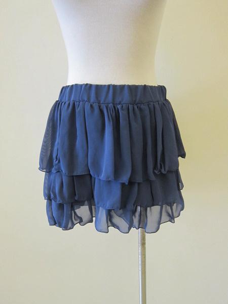 【巴黎站二手名牌專賣店】*W&C 真品*藍色 雪紡 鬆緊 蛋糕裙