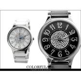 精密陶瓷全部銹鋼腕錶 崁入奧地利水鑽手錶 范倫鐵諾Valentino【NE524】單支