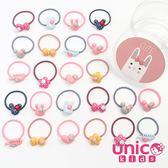 UNICO 兒童嬰兒髮飾壓克力迷你髮圈盒裝-24入組(甜甜可愛風)