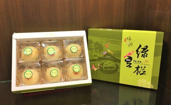 《瑞源餅店》新竹北埔名產伴手禮 【綠豆椪】 6入/盒 (蛋奶素)