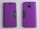 gamax 完美系列 HTC One(M8) 簡約綴色側翻手機保護皮套 磁吸插卡側立 內TPU軟殼 全包