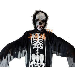 萬聖節鬼節化妝舞會用品 鬼骨架鬼衣服+猩猩面具 265/190g
