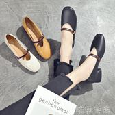 牛津鞋 鞋子女春秋季新款百搭韓版單鞋粗跟奶奶鞋學生森女中跟小皮鞋 唯伊時尚