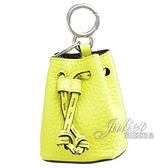 茱麗葉精品【全新現貨】FENDI 7AR762 迷你水桶造型鑰匙圈.螢光黃