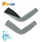 UV100 防曬 抗UV-流線彈力涼感單車袖套-男