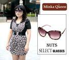 Minka Queen 神秘紫色豹紋框(抗UV400)時尚百搭太陽眼鏡