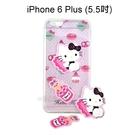 Hello Kitty 拭鏡貼透明軟殼 [甜點粉] iPhone 6 Plus / 6S Plus (5.5吋)【三麗鷗正版授權】