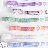 【BlueCat】表白詩漸層愛心接龍手帳貼紙 裝飾貼紙 (100枚)