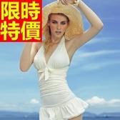 連身泳衣 泳裝-音樂祭泡湯玩水必備比基尼精緻甜美54g17【時尚巴黎】