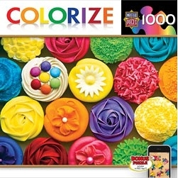 【KANGA GAMES】拼圖 彩色杯子蛋糕 Colorize - Cupcake Heaven 1000片