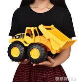 挖土機玩具 兒童玩具車耐摔加厚鏟車推土機挖土挖掘機寶寶工程車模型大號 MKS 歐萊爾藝術館