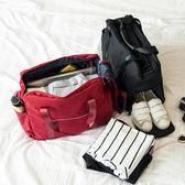 手提旅行包折疊旅行袋女大容量登機防水行李袋可套拉桿包旅游包男 創想數位