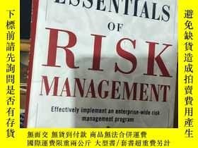 二手書博民逛書店英文原版罕見ESSENTIALS OF RISK MANAGEM