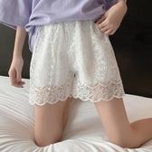 學生打底褲女外穿2020夏季新款韓版防走光短褲鏤空蕾絲短褲 伊蘿鞋包
