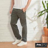 【JEEP】男裝 舒適休閒工作褲-鐵灰